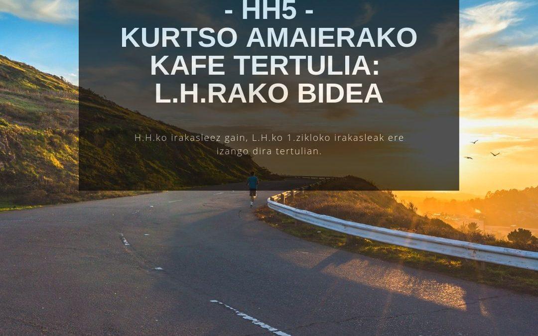HH 5 – Café tertulia de final de curso: Camino a Primaria
